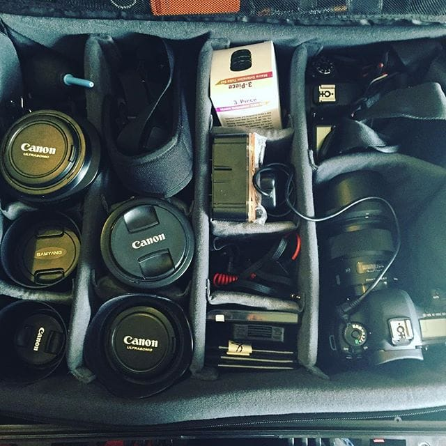 Gear packed, batteries charged and memory cards formatted. Let's hope the weather is kind.