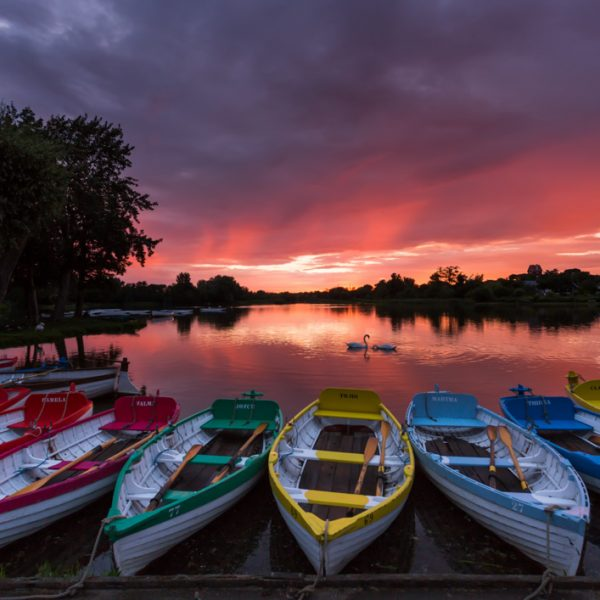 Sunset at Thorpeness Meare, Suffolk