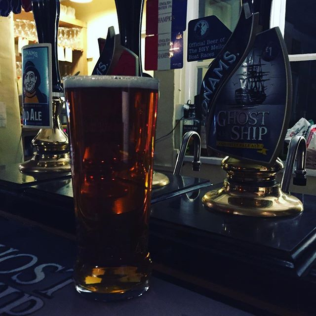 After a cold night at Orford taking photographs of the stars a pint of Adnams ghost at the Crown at Snape is very welcome